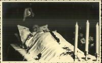 MaCabre Funeral Dead Body c1920s Real Photo Postcard