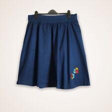 Lindy Bop Skirt Size 20 Navy Floral Embroidery Full Rockabilly Side Pockets Swin