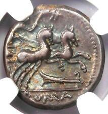 Roman M. Cipius Mf. AR Denarius Silver Coin 115 BC - Certified NGC Choice VF