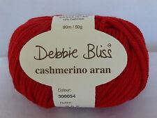 Debbie Bliss Cashmerino Aran X 50g Choose Colour Crimson