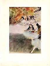 """1957 Vintage Full Color Art Plate """"ON THE STAGE"""" by Degas Lithograph"""