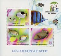 Madagascar 2017 MNH Reef Fish 3v M/S Poissons Fishes Marine Stamps