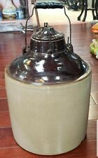 Early 1900's Weir Stoneware No. 4 Canning Crock Made in Monmouth, Illinois