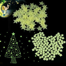 100Pcs Glow in The Dark Real Luminous Stars Stickers Decals Ceiling Wall Bedroom