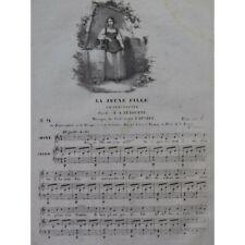 LABBARE Théodore La jeune fille Chant Piano ca1830 partition sheet music score