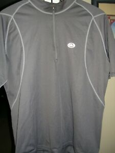 LOUIS GARNEAU MEN'S CYCLING JERSEY XL GRAY GOOD USED CONDITION