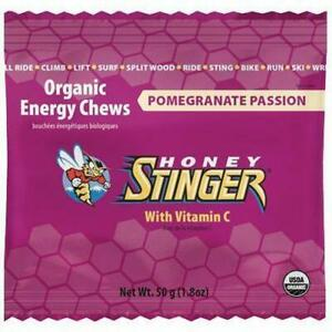 HONEY Stinger Organic Energy Chews 50G Box Of 12 Passion Fruit