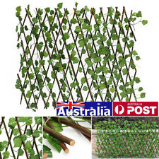 200cm Trellis Artificial Ivy Leaf Fence Wall Expanding Long UV Protected Garden