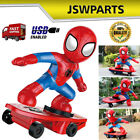 Spider-man RC Drift Stunt Scooter Remote Control Vehicle Car Toy Birthday Gift
