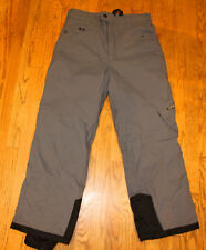 Spyder XT Ski Snowboarding Pants Youth Kids 16 Gray Black