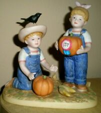 "Denim Days "" The Prize Pumpkin "" Home Interiors 1531 Collectible Figurine"