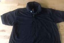 Hanes Black Polo Shirt Youth Medium