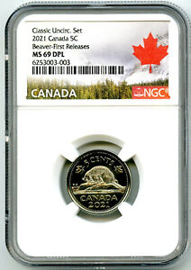 2021 CANADA 5 CENT NICKEL NGC MS69 DPL FIRST RELEASES TOP POP REGISTRY QUALITY