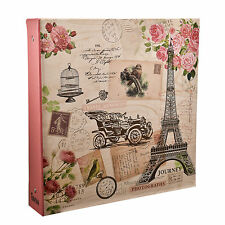 Large Travel Memories Ring binder Photo Album for 500 Photos 4' x 6'- FL500