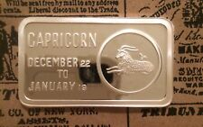 Capricorn Zodiac JCM-15 999 SILVER ART BAR 1 TROY OZ J.S. Love & Associates