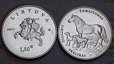 1,5 euro 2017 LITUANIA Cavallo Cani Skalikas Lituanie Lithuania Litauen Lietuva