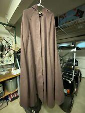 Star Wars Jedi robe/cloak, hooded, heavy canvas, brown, light saber pocket