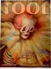 Tool signed poster austin concert 2020 tour texas brandi milne art autographed
