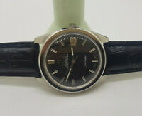 VINTAGE 1967 OMEGA CHRONOMETER BLACK DIAL DATE CAL:564 AUTO MAN'S WATCH