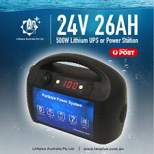 New 12V 52AH 500W Peak 1000W Lithium UPS Portable 624WH Power Bank Station