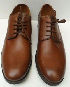 Mens Clarks Flow Plain British Tan Leather Lace Up Shoes - Size UK 7- 8.5 G