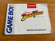 Gameboy Duck Tales Manual Only