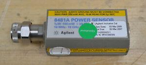 HP Agilent 8481A RF Power Sensor 10MHz-18GHz, -30 to +20dbm Guaranteed GOOD