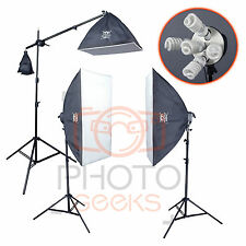 Softbox Continuous Lighting Kit - 1775w 3 Head - Photography Studio Portrait Set