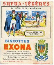 BUVARD PUBLICITAIRE BISCOTTES EXONA NAPOLEON ET SES MARECHAUX MARECHAL LEFEVRE