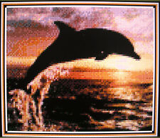 DOLPHIN AND SUNSET ~ Counted Cross Stitch KIT #K790
