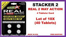 40 Stacker 2 Stacker2 Real 2 Way Action Explosive Energy Helps Burn Fat Tablets