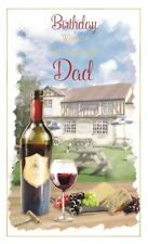 Birthday Wishes To A Special Dad Greetings Card - Pub And Red Wine Theme