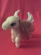 Barbie Magic Of Pegasus Little Brietta White/Pink Horse Plush Stuffed Animal