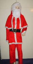 Men's Faux Fur Santa Claus Father Christmas Xmas Fancy Dress Costume L/XL Used