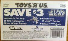 Star Wars Pepsi Kenner Toys R Us 1996 Coupon Paper