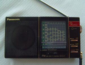 Vintage Panasonic RF-9 - Nine Band Pocket Size AM/MW FM SW Portable Radio Japan