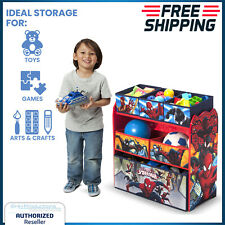 Kids Toy Organizer Bin Storage Box Shelf Play Room Bedroom Spider Man Marvel