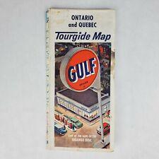 Vintage Gulf Tourguide Map Ontario & Quebec