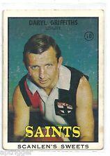 1968 B Scanlens (10) Daryl GRIFFITHS St. Kilda G.
