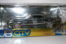 Jada Dub City Bigtime Muscle 1967 Ford 67 Shelby Mustang Chrome GT-500 1:18th