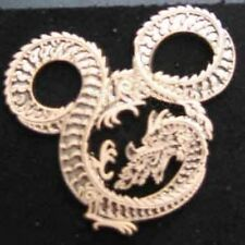 Disney Pin WDI IMAGINEERING CAST MICKEY HEAD DRAGON BRASS METAL LE HTF