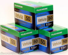 3 x Fuji Velvia 50 50iso 35mm 36exp Cheap Colour Slide Film by 1st CLASS POST