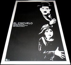 1921 The Kid ORIGINAL Silkscreen ICAIC CUBAN POSTER Charlie Chaplin