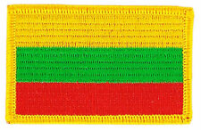 FLAG PATCH PATCHES Lithuania  IRON ON COUNTRY EMBROIDERED WORLD SMALL