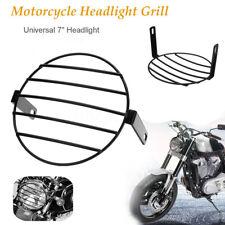 7'' UNIVERSALE RETRO GRIGLIA FARO FANALE ANTERIORE HEADLIGHT CAFE RACER MOTO