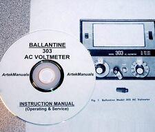 BALLANTINE 303 AC VOLTMETER OPERATING & SERVICE MANUAL