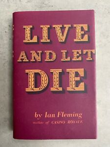 Live and Let Die FIRST EDITION 1st 1956 with DJ Ian Fleming James Bond Very Good
