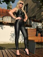 Lederhose Leder Hose Schwarz Knalleng Gelochtes Leder Maßanfertigung