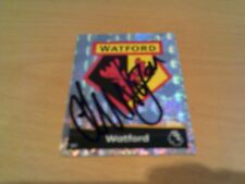signed watford match attax badge of ex player lee nogan