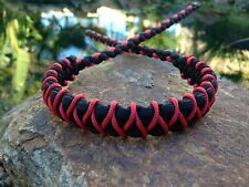 COMPOUND BOW WRIST SLING Black Red With Micro Braid X Weave